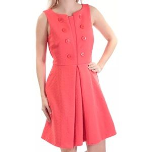 Fit & Flare Coral Dress